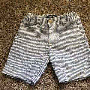 Toddler Polo seersucker shorts